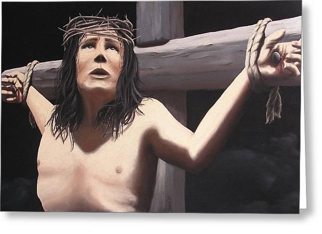 Jesus Pastels Greeting Cards - Jesus 2000 Greeting Card by Barros