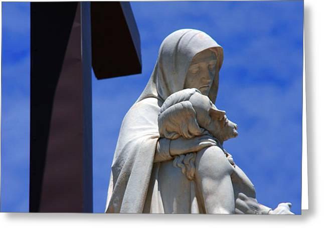 Jesus and Maria Greeting Card by Susanne Van Hulst