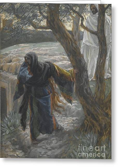 Lord Paintings Greeting Cards - Jesus Appears to Mary Magdalene Greeting Card by Tissot