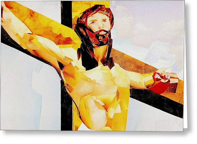 Purple Robe Greeting Cards - Jesus Christ - Atonement Greeting Card by Paul Frederick Bush