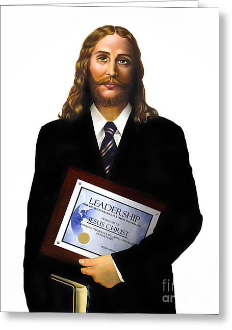 Jesus Christ Greeting Card by Carlos De Las Heras