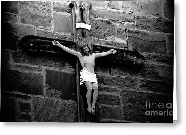 Jesus Christ Icon Greeting Cards - Jesus Christ Greeting Card by David Lee Thompson
