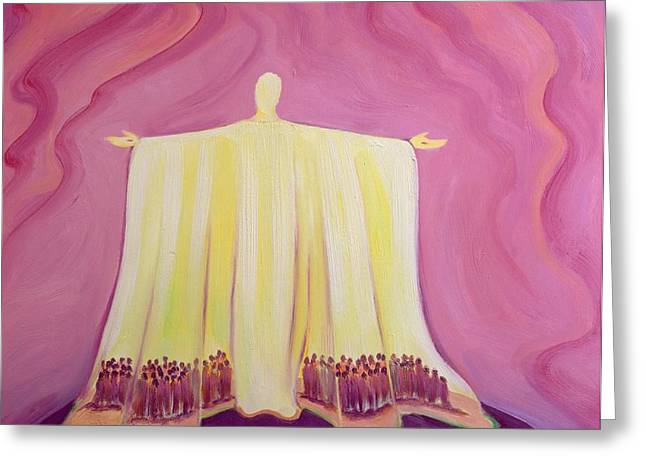 Jesus Christ is like a tent which shelters us in life's desert Greeting Card by Elizabeth Wang