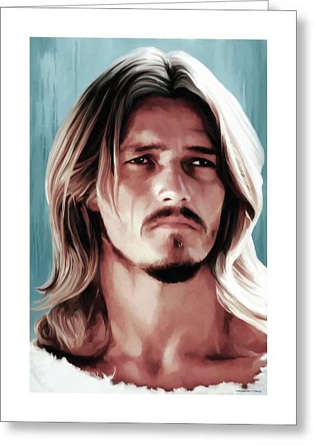 Superstar Mixed Media Greeting Cards - Jesus Christ Superstar Greeting Card by Gabriel T Toro