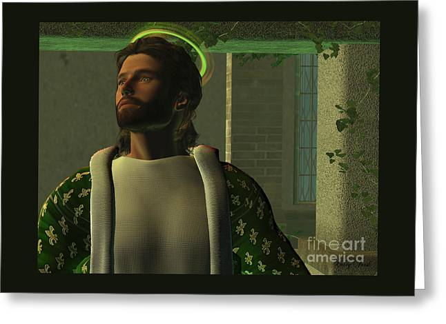 Jesus Greeting Card by Corey Ford