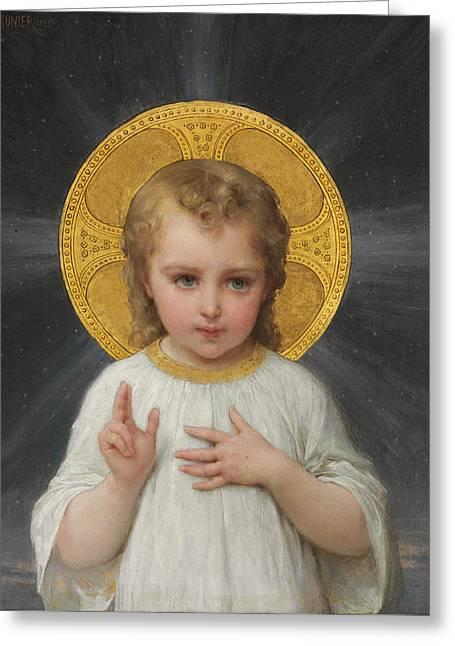 Jesus Greeting Card by Emile Munier