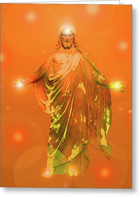 Issa Greeting Cards - Jesus-Energy No. 03 Greeting Card by Ramon Labusch