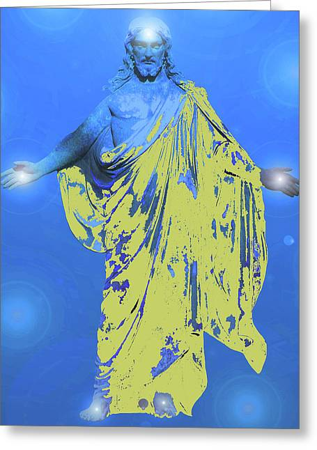 Issa Greeting Cards - Jesus-Energy. No. 11 Greeting Card by Ramon Labusch
