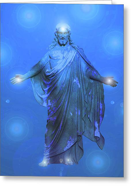 Issa Greeting Cards - Jesus-Energy No. 13 Greeting Card by Ramon Labusch