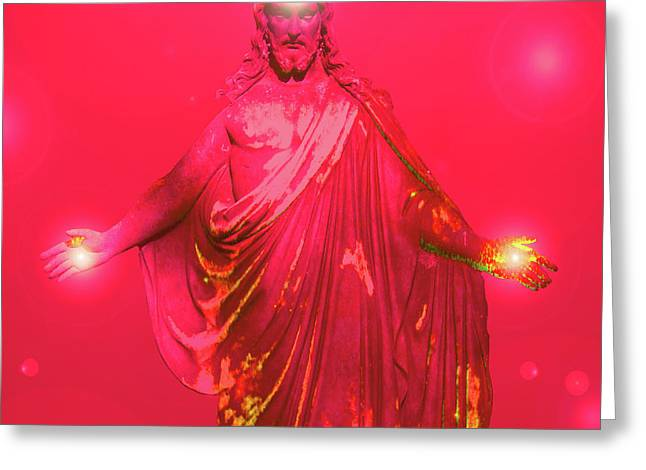 Basis-chakra Greeting Cards - Jesus-Energy No. 32 Greeting Card by Ramon Labusch
