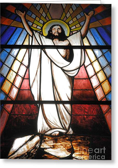 Azoren Greeting Cards - Jesus is Our Savior Greeting Card by Gaspar Avila