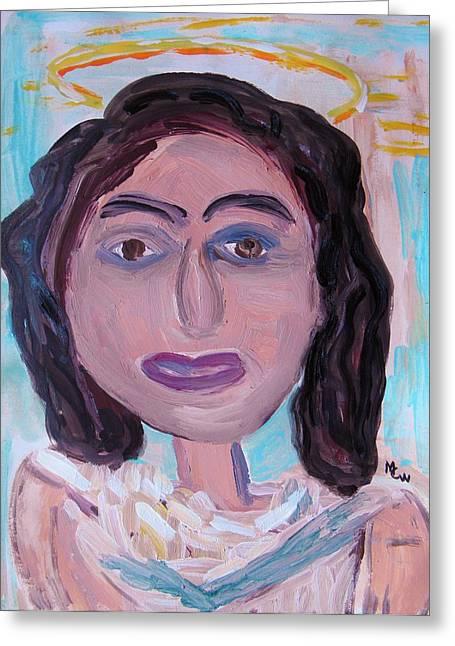 Jesus work Drawings Greeting Cards - Jesus Greeting Card by Mary Carol Williams