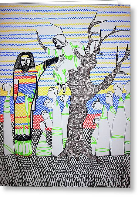 Jesus Meets Zaccheus Greeting Card by Gloria Ssali