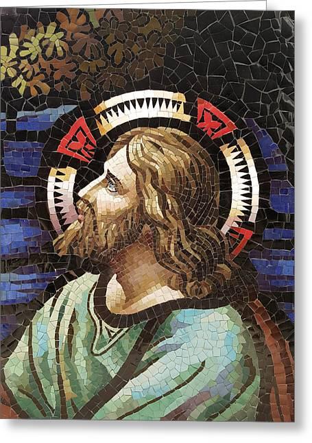 Jesus Greeting Card by Nhon Mai