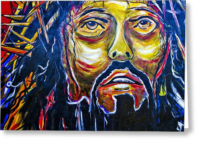 Testament Greeting Cards - Jesus Greeting Card by Patrick Henrickson