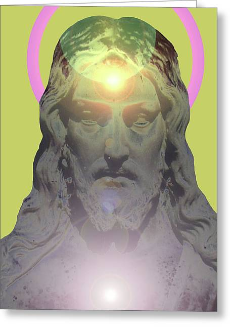 Issa Greeting Cards - Jesus Portrait No. 01 Greeting Card by Ramon Labusch