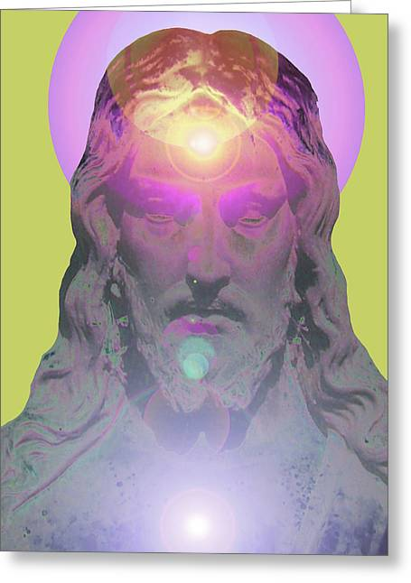 Issa Greeting Cards - Jesus Portrait No. 03 Greeting Card by Ramon Labusch