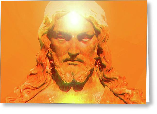 Issa Greeting Cards - Jesus-Portrait No. 06 Greeting Card by Ramon Labusch