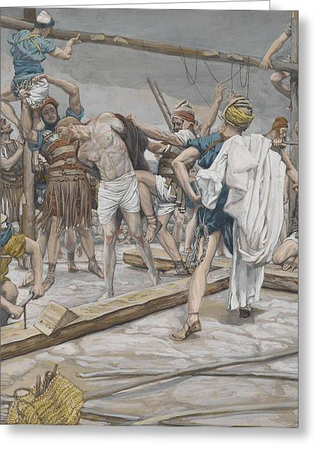 Roman Soldier Greeting Cards - Jesus Stripped of His Clothing Greeting Card by Tissot