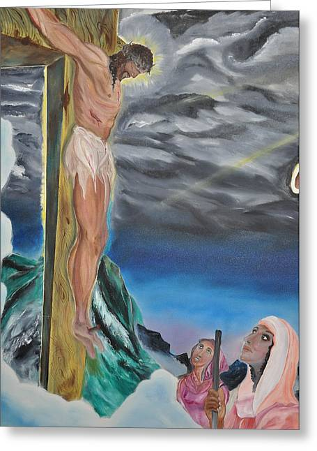 Religious Paintings Greeting Cards - Jesus Wept Greeting Card by Richard Press