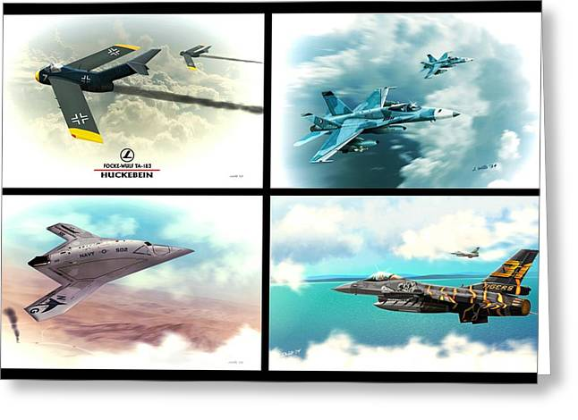 Fighting Tigers Greeting Cards - Jet Aviation Art Compilation  Greeting Card by John Wills