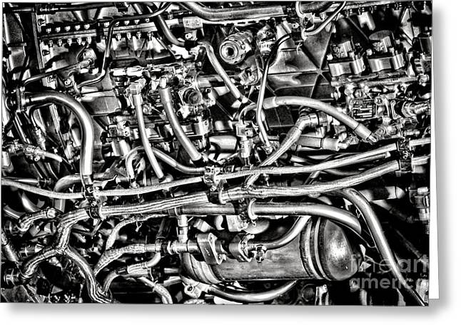Jet Engine Greeting Card by Olivier Le Queinec