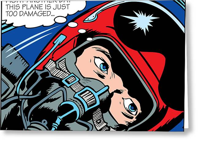 Modern Pop Art Greeting Cards - Jet Pilot Greeting Card by Gary Grayson