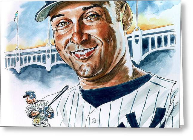 Jeter Greeting Card by Tom Hedderich