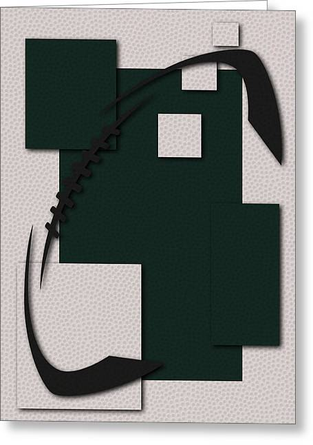 New York Jets Greeting Cards - Jets Football Art Greeting Card by Joe Hamilton