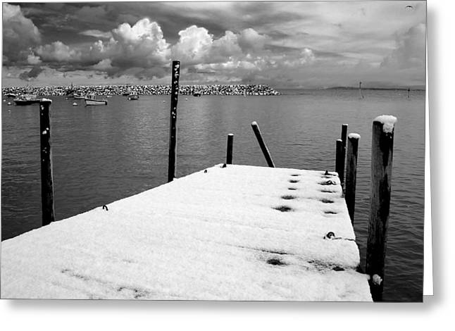 Jetty, Rhos-on-sea Greeting Card by Peter OReilly