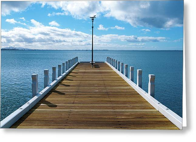 Geelong Greeting Cards - Jetty Greeting Card by Tim Nichols