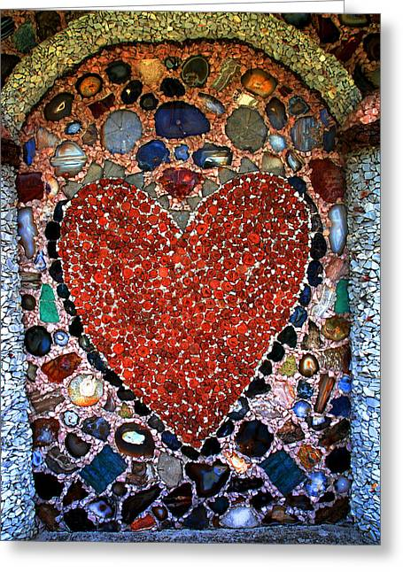 With Love Greeting Cards - Jewel Heart Greeting Card by Susanne Van Hulst