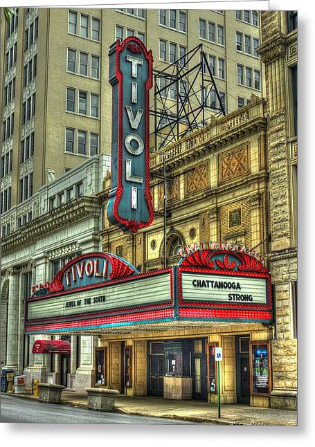 Jewel Of The South Tivoli Chattanooga Historic Theater Greeting Card by Reid Callaway