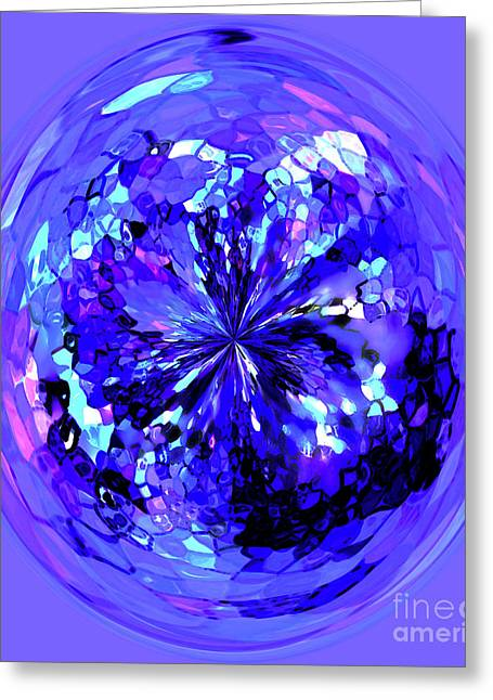 Violet Blue Greeting Cards - Jewel Greeting Card by Terril Heilman