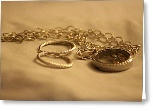 Locket Greeting Cards - Jewelry For The Lady  Greeting Card by Cynthia Guinn