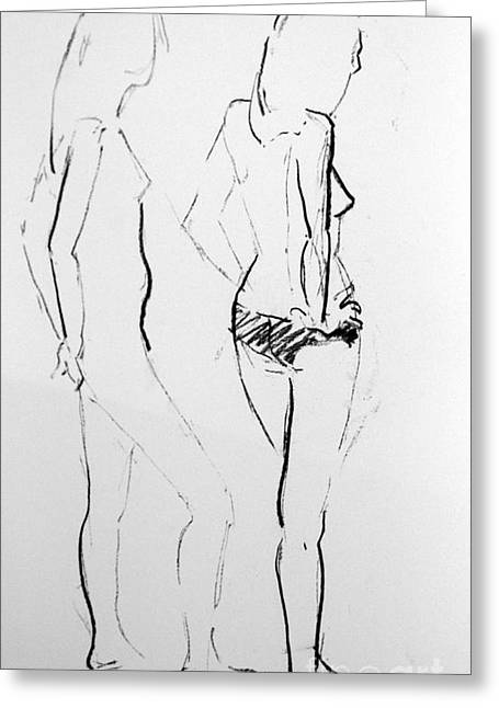 Life Line Drawings Greeting Cards - Jewels Greeting Card by Joanne Claxton