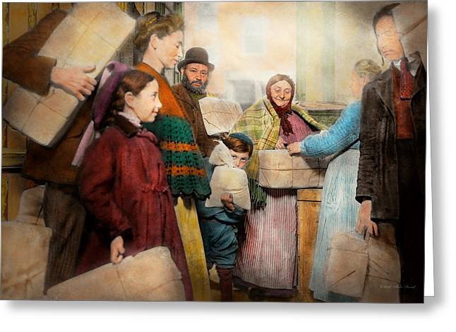 Jewish - Food For The Less Fortunate 1908 Greeting Card by Mike Savad