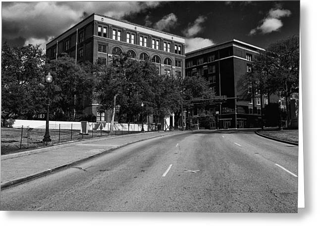Jacksonville Florida Greeting Cards - JFK The Kill Zone Greeting Card by William Jones