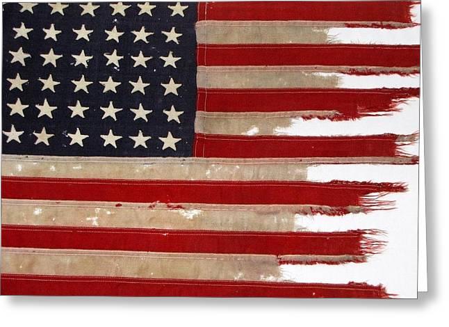Actual Greeting Cards - JFKs PT-109 Flag Greeting Card by Lori Pessin Lafargue