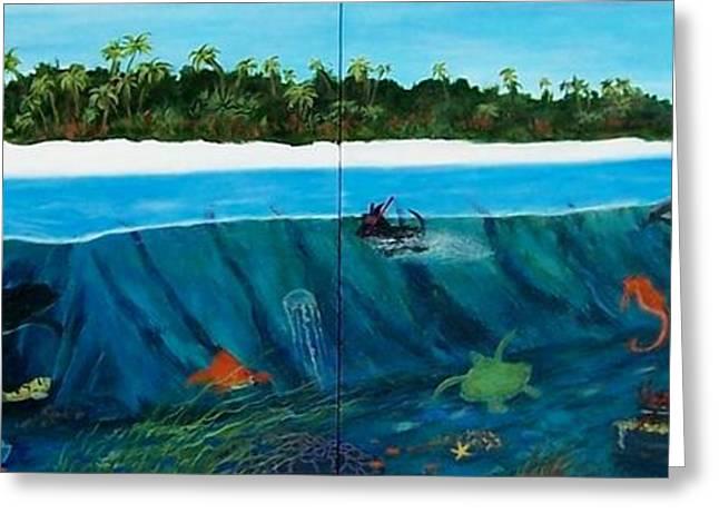 Aquarium Fish Greeting Cards - Jills Aquarium 2 Greeting Card by Jamie Frier