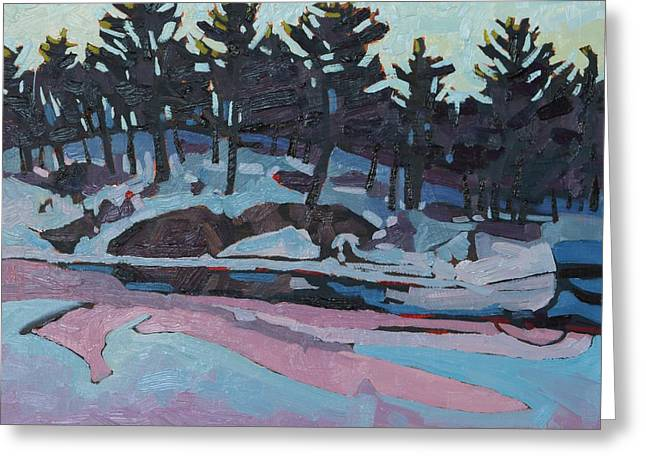 Canadian Greeting Cards - Jim Day Dawn Greeting Card by Phil Chadwick
