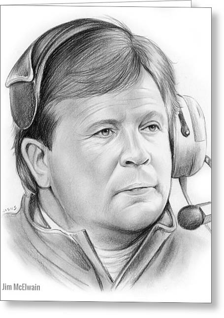 Jim Mcelwain Greeting Card by Greg Joens