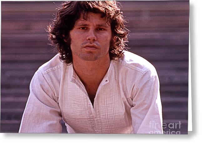 Jim Morrison 1969 Greeting Card by Frank Bez