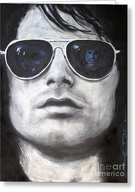 The Doors Greeting Cards - Jim Morrison III Greeting Card by Eric Dee
