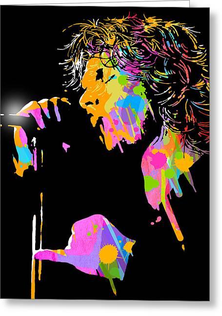Jim Morrison Greeting Card by Paul Sachtleben