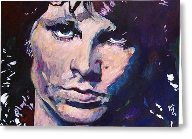 Jim Morrison the Lizard King Greeting Card by David Lloyd Glover