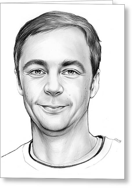 Jim Parsons Greeting Card by Greg Joens