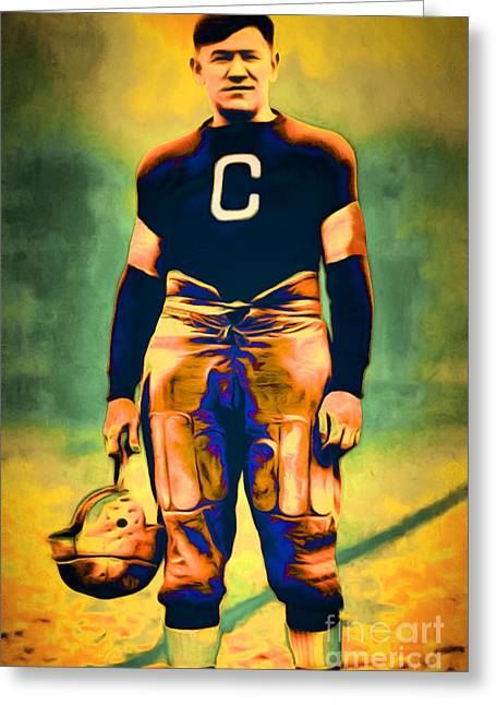 Jim Thorpe Vintage Football 20151220 Greeting Card by Wingsdomain Art and Photography