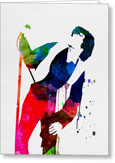 Disco Greeting Cards - Jim Watercolor Greeting Card by Naxart Studio