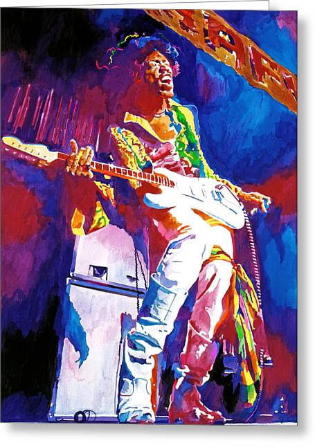 Marshall Greeting Cards - Jimi Hendrix - THE ULTIMATE Greeting Card by David Lloyd Glover